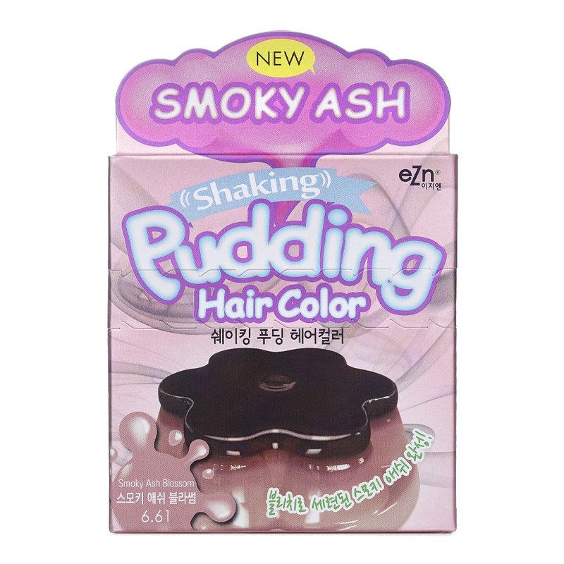 Ezn Shaking Pudding Hair Color Smoky Ash Blossom 6.61 (70ml+70ml)