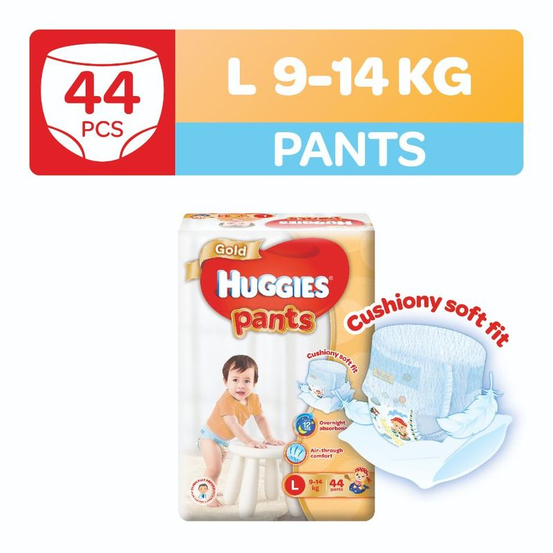 Huggies Gold Pants L, 44pcs