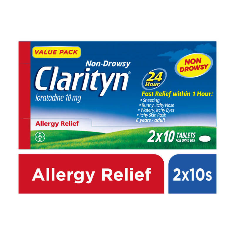 Clarityn Non-drowsy Allergy Relief Twin Pack, 2x10 tablets
