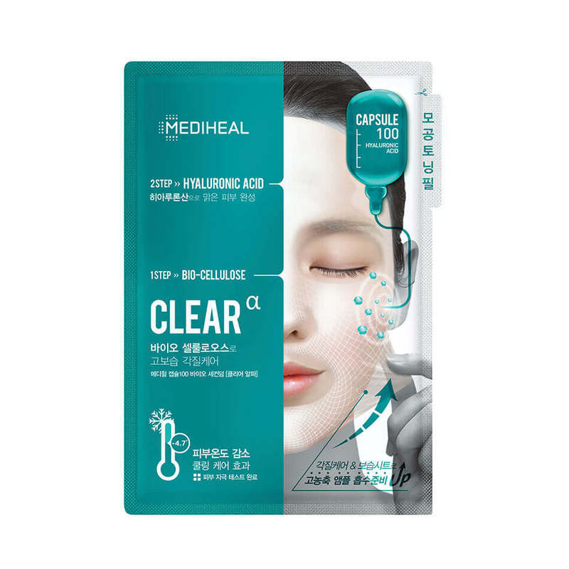 Mediheal Capsule100 Bio Seconderm Clear Mask Sheet 25ml