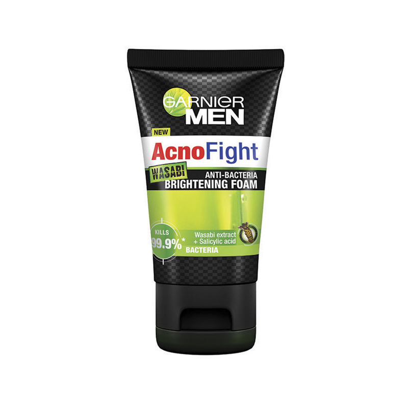 Garnier Men AcnoFight Wasabi Brightening Foam, 100ml