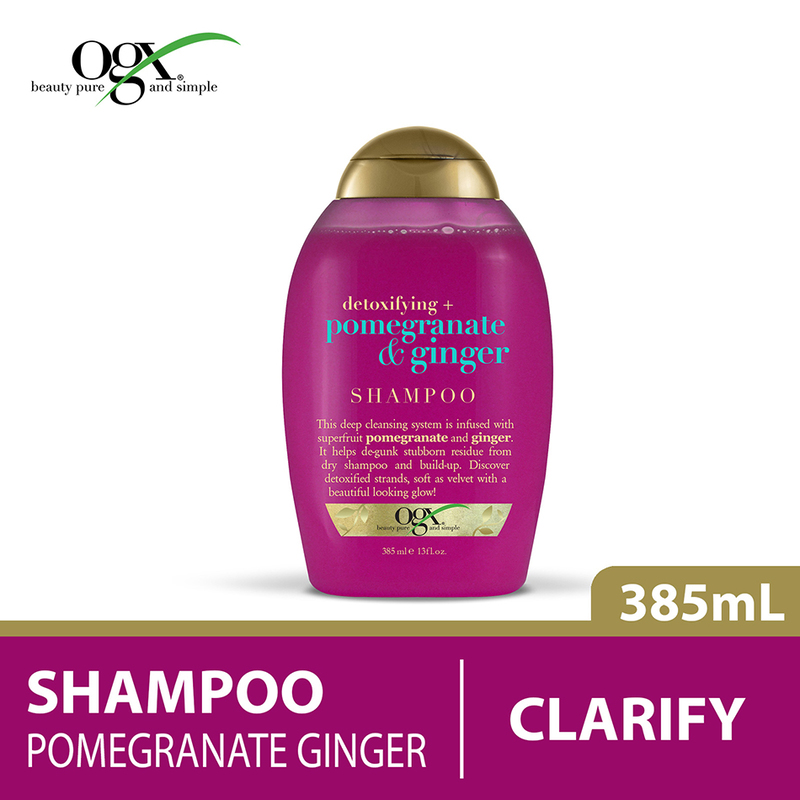 Ogx Detoxifying + Pomegranate & Ginger Shampoo, 385ml