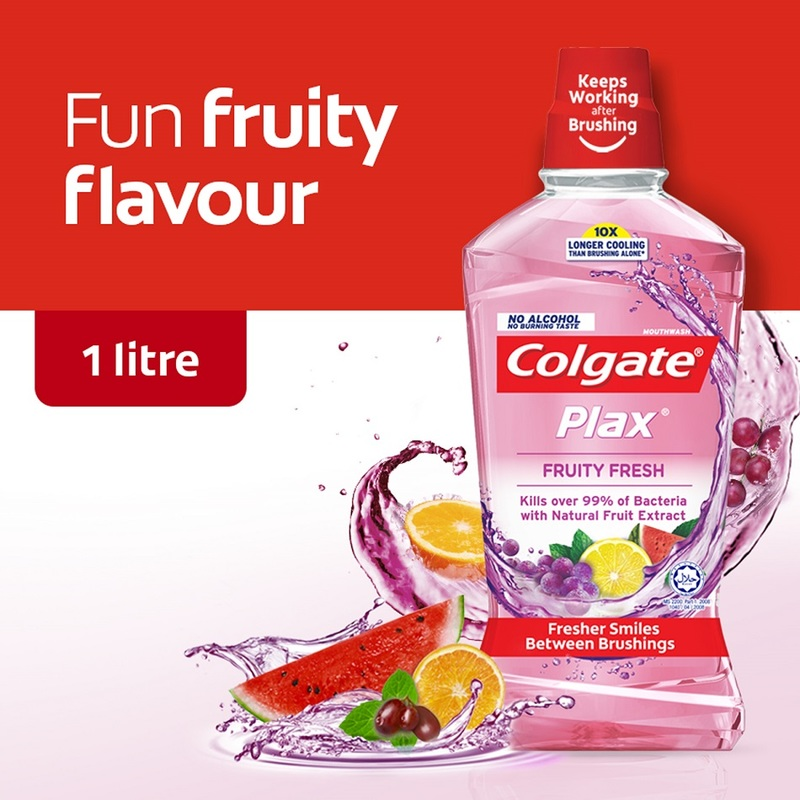 Colgate Fruity Fresh Mouthwash, 1L