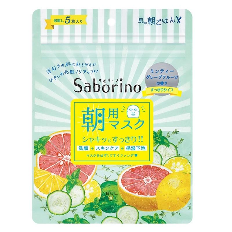 Saborino Morning Mask Minty Fresh, 5pcs