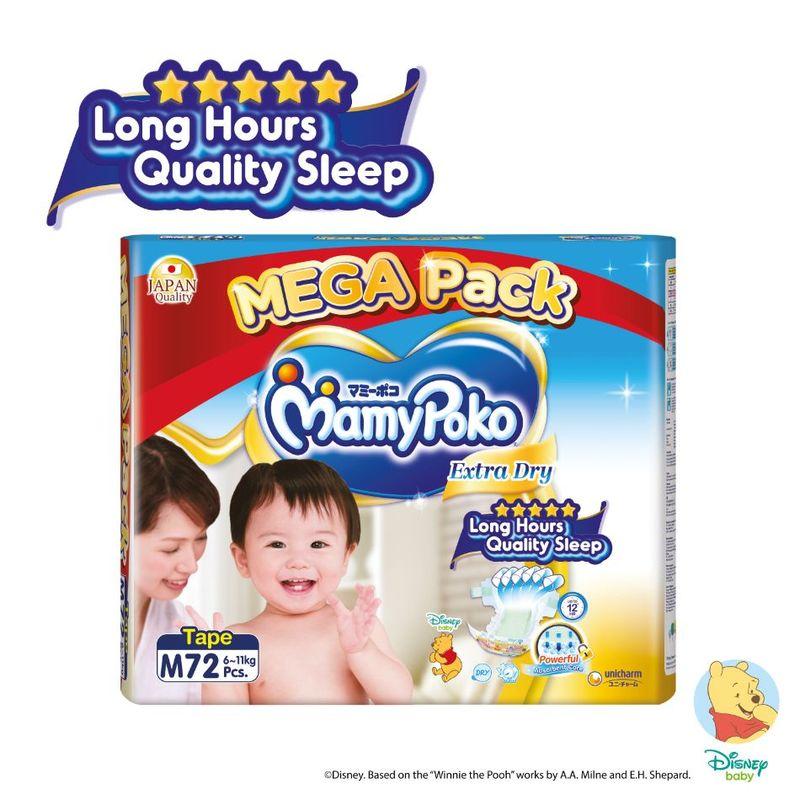 Mamy Poko Extra Dry Tape M, 72pcs