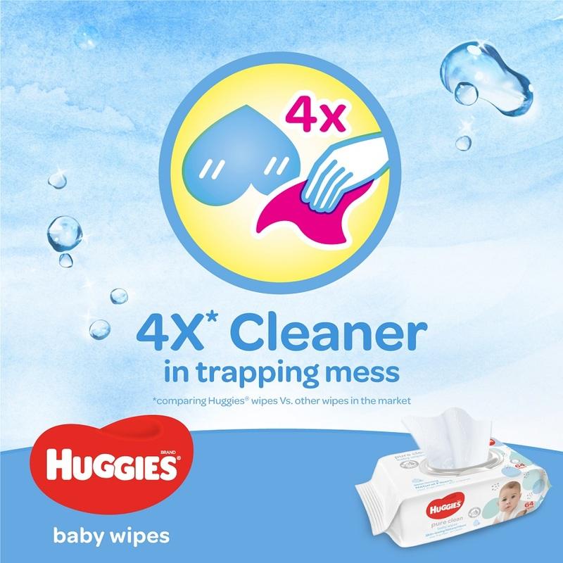 Huggies Pure Clean Baby Wipes Triple Pack, 3x16s