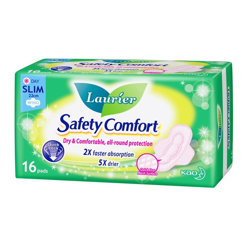 Laurier Safety Comfort Slim Day 22.5cm, 16pcs