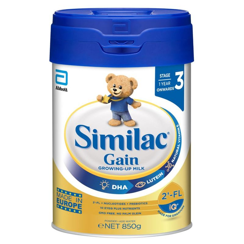 Similac Gain 2-FL Stage 3 Milk Formula - 850G