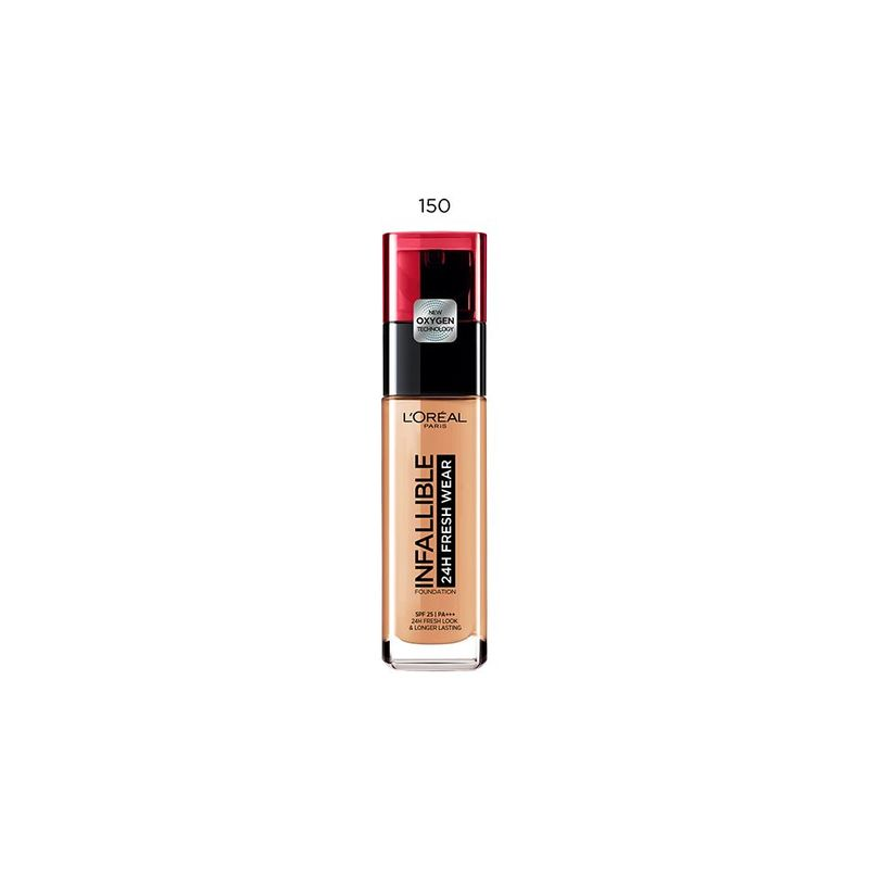 LOREAL PARIS MAKEUP infallible 24h fresh wear foundation 150 radiant beige