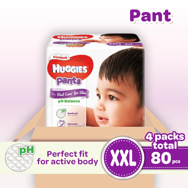 Huggies Diamond Pants XXL 20pcsX4boxes