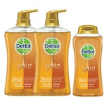 Dettol Gold Anti-bacterial Body Wash 625g Twin Pack+Classic Cleanbody Wash 250g (Classic Clean)