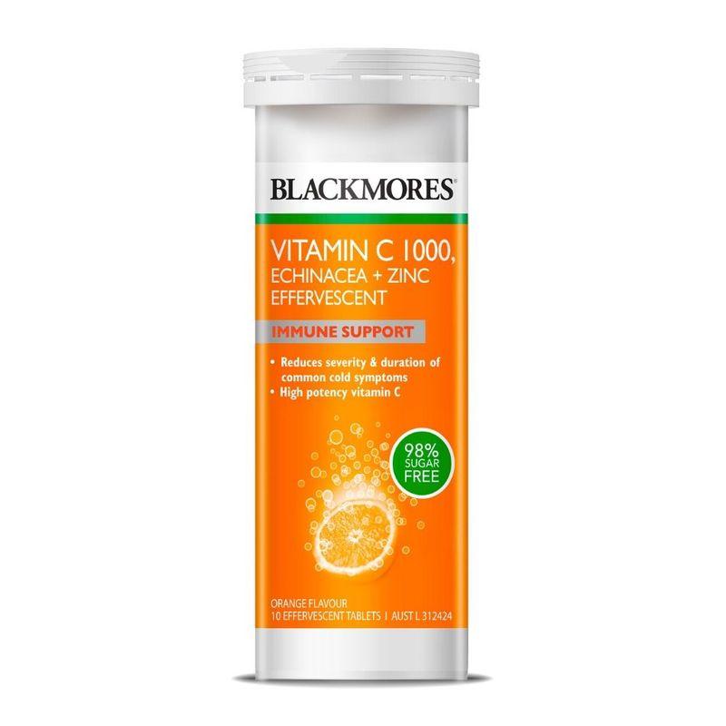 Blackmores Vitamin C 1000, Echinacea + Zinc Effervescent