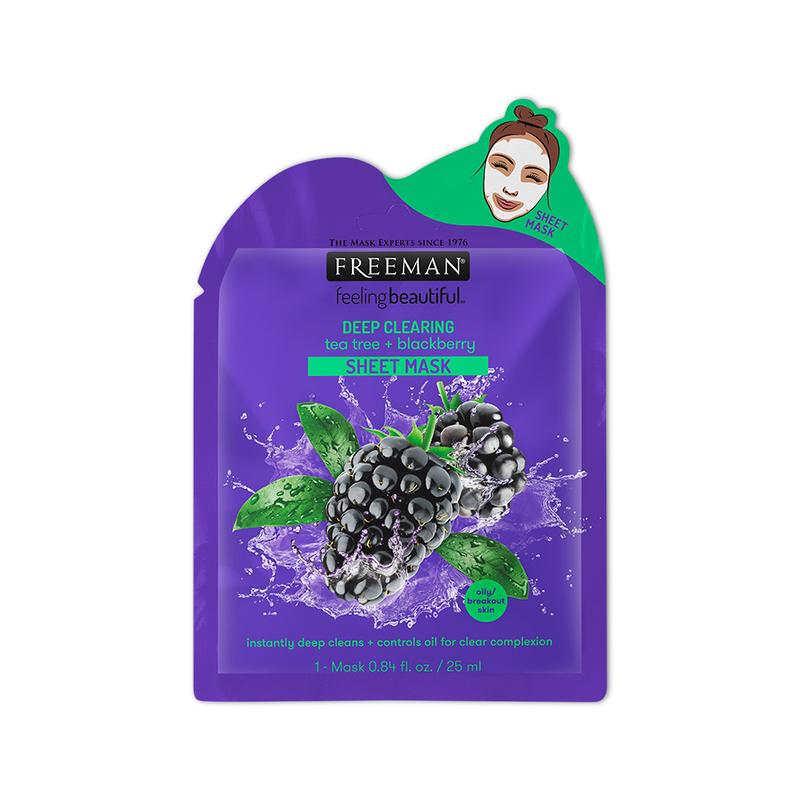 Freeman Deep Clearing Tea Tree + Blackberry Sheet Mask