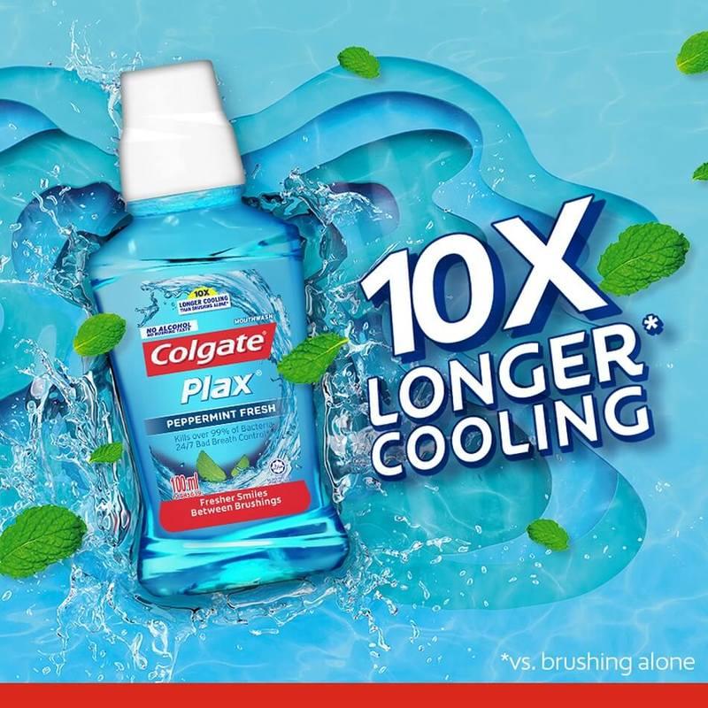 Colgate Mouthwash Plax Peppermint, 100ml