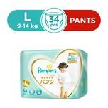 Pampers Silk Pants L, 34pcs