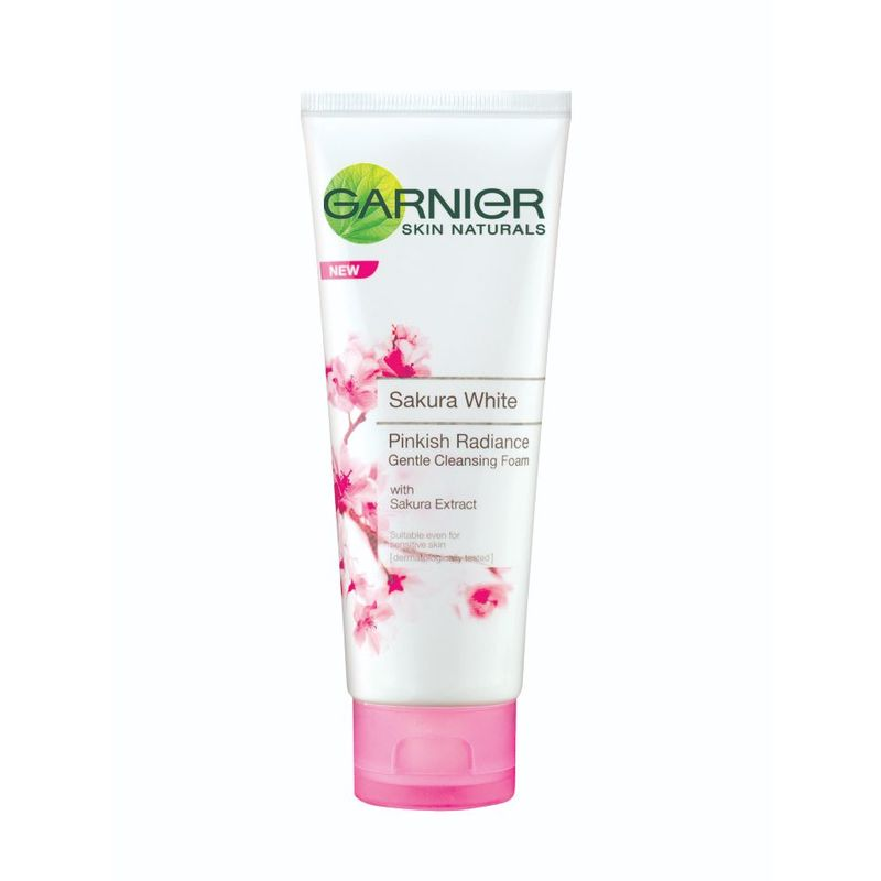 Garnier Sakura White Pinkish Radiance Gentle Cleansing Foam, 100ml
