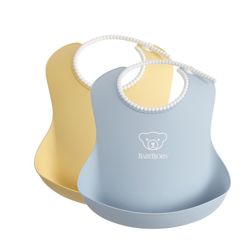 Babybjorn Baby Bib(Powder Yellow/Powder Blue) 2pcs