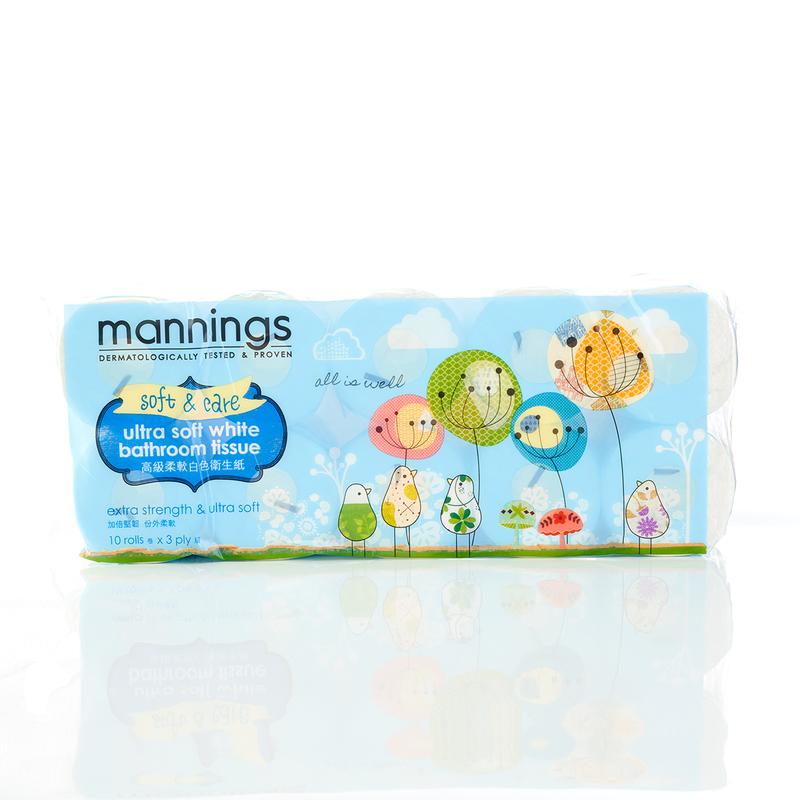 Mannings Ultra Soft White Bathroom Tissue