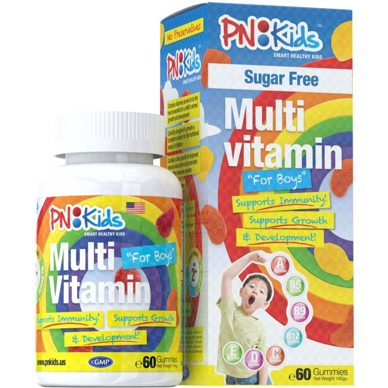 PNKids Multivitamins + Minerals Sugar-Free Boys, 60 Gummies