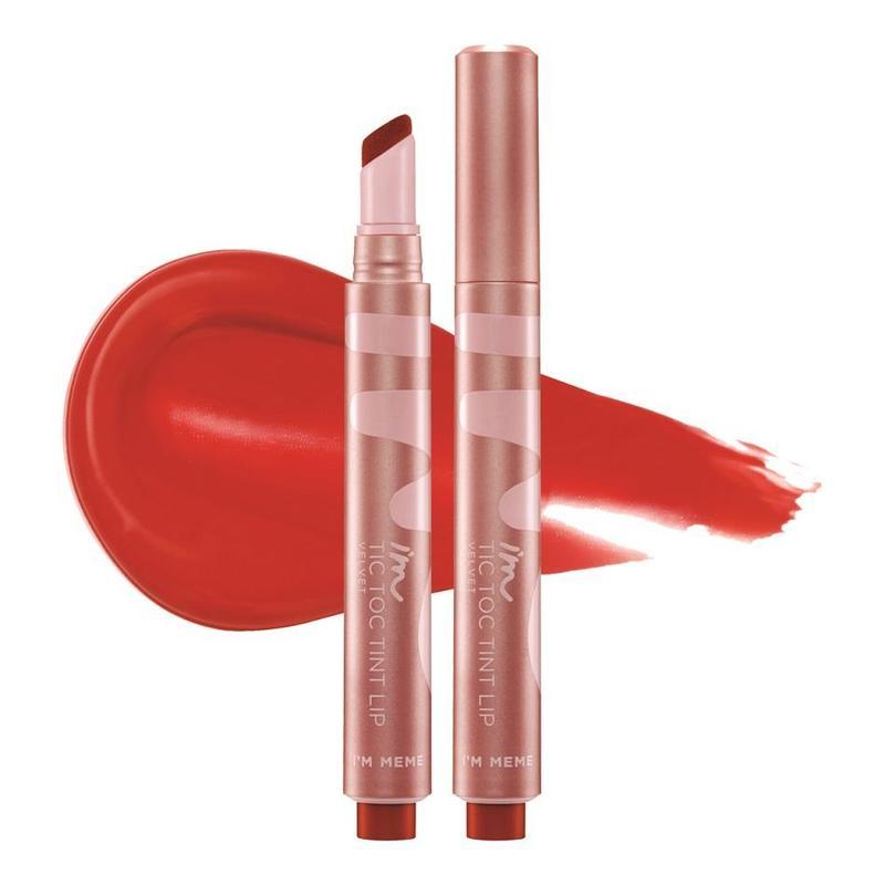 I'm Meme Tic Toc Tint Lip Velvet 001 Dangerous Red, 2.5g