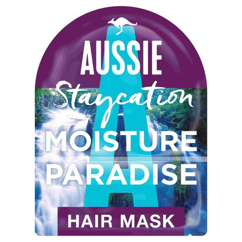 Aussie Staycation Australian Macadamia Nut Oil Moisture Paradise Hair Mask & Cap 20ml