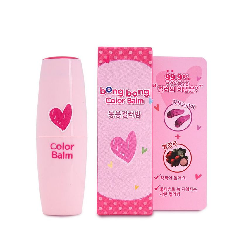 Bong Bong Friends Color-Balm Milky Pink, 3.5ml