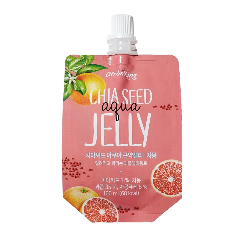 Citron King Chia Seed Aqua Konjac Jelly(Grapefruit) 100g