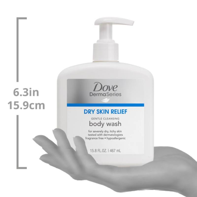 Dove DermaSeries Gentle Cleansing Body Wash, 467ml