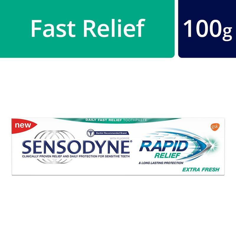SENSODYNE rapid relief extra fresh toothpaste 100g