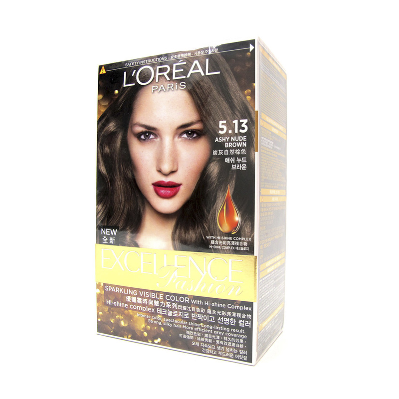 L'Oreal Excellence Fashion Hair Colour 5.13 Ashy Nude Brown