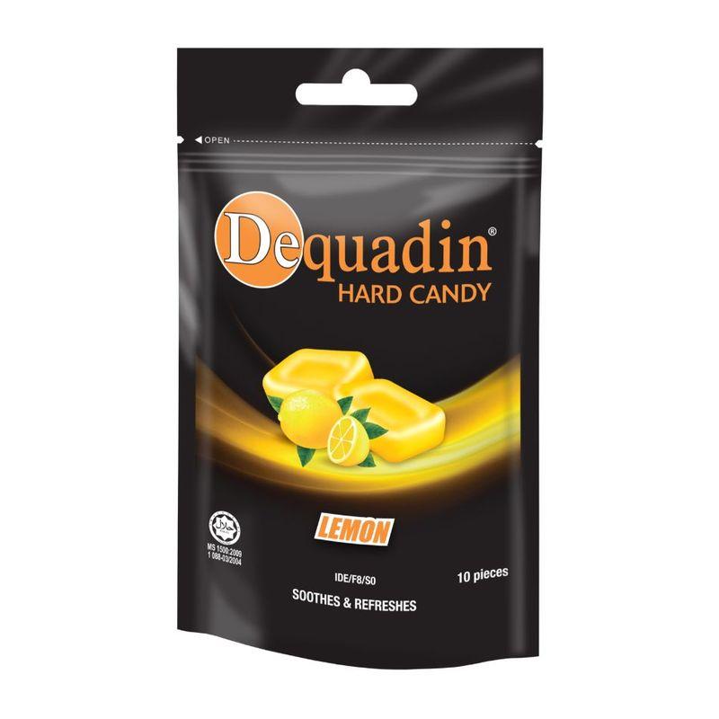 Dequadin Hard Candy Lemon 38g Zipper Bag