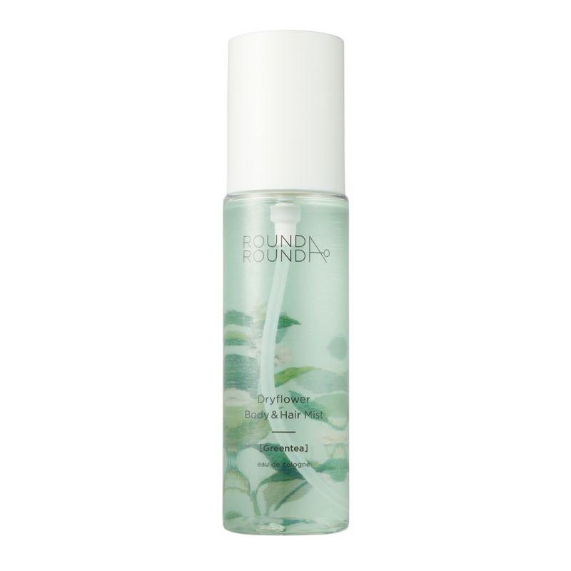 Round A'Round Dryflower Body & Hair Mist (Green Tea) 100ml
