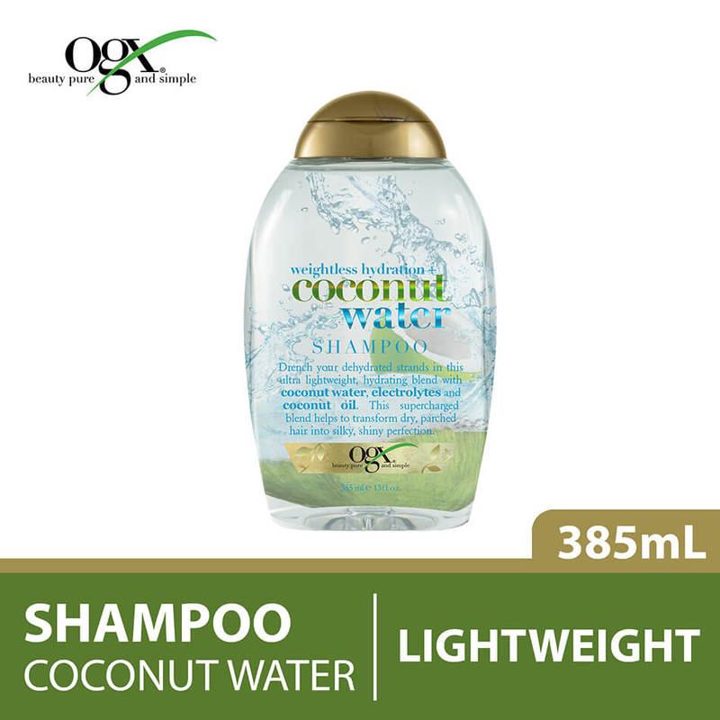 Ogx Weightless Hydration Coconut Water Shampoo, 385ml