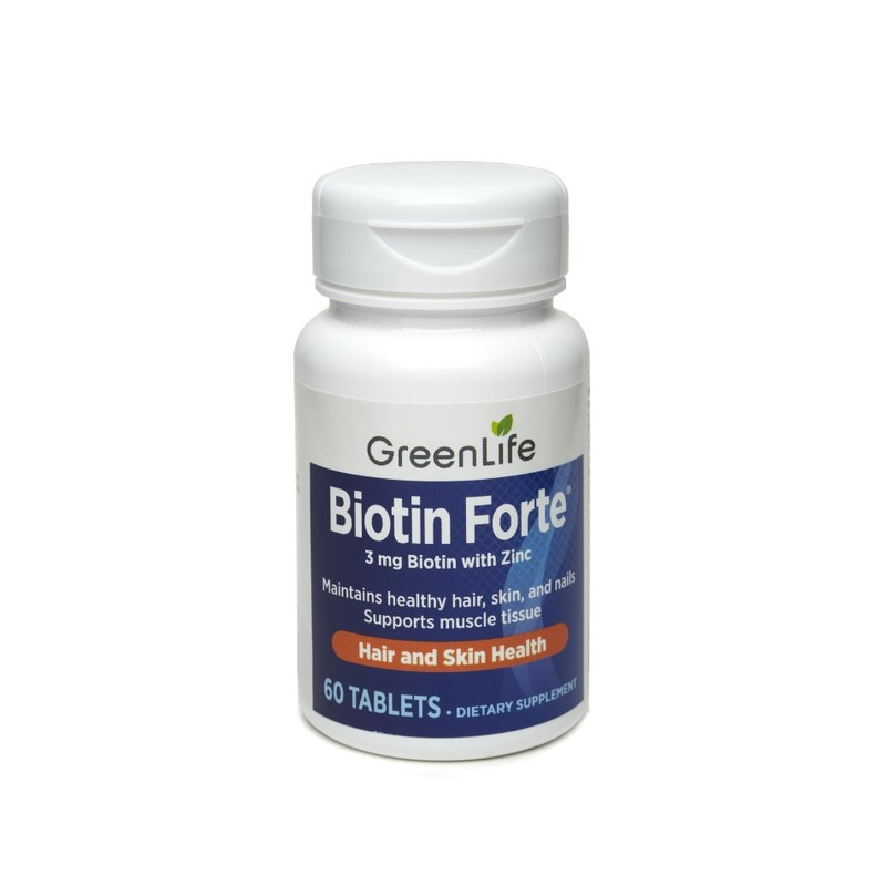 GreenLife Biotin Forte with Zinc, 60 tablets
