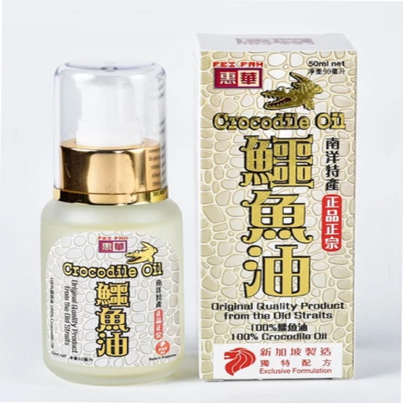 Fei Fah Crocodile Oil (Original), 3x50ml